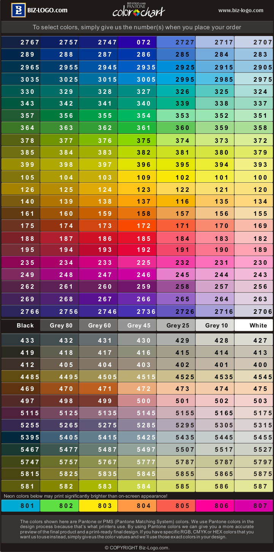 Biz logo color chart nvjuhfo Gallery