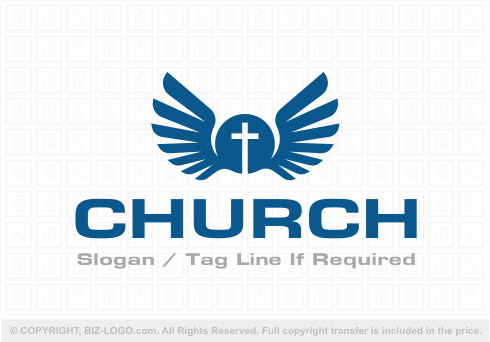 8072: Wings Church Logo