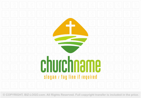 8073: Diamond Shape Church Logo