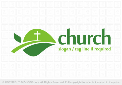 8198: Green Church Logo