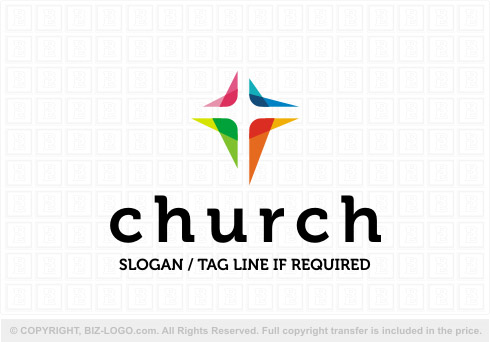 8200: Colorful Stylish Church Logo