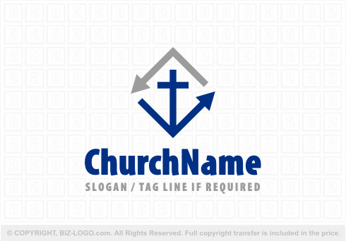 Logo 8146: Diamond Arrow Church Logo