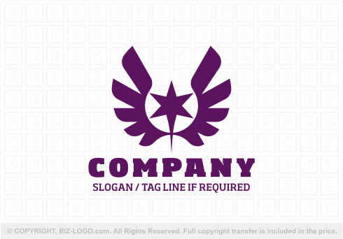 8031: Purple Eagle Logo