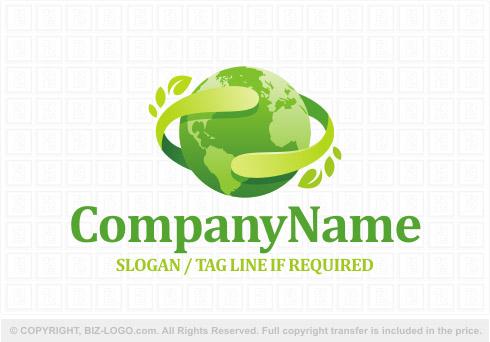 Green Nature Globe Logo