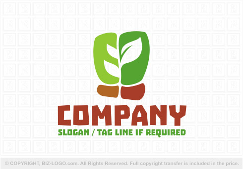 Logo 8128: Plant and Soil Landscape Logo