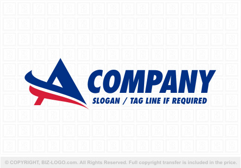 7941: Red and Blue Letter A Logo