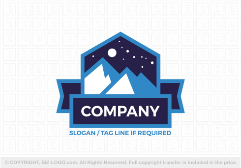 8297: Starry Night Mountain Logo