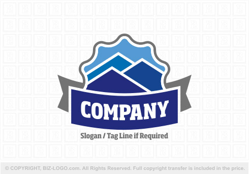 8173: Different Shapes Mountain Logo