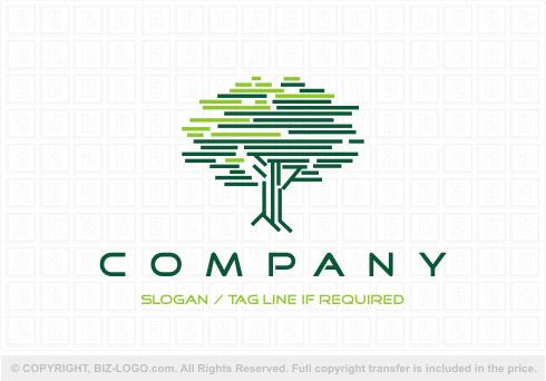Oak Tree Lines Logo