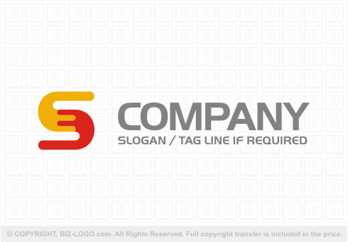 Logo 8422: Yellow and Red Letter S Logo